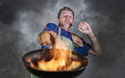 Evitando riscos e acidentes na cozinha